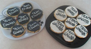 Galletas Team Edward y Team Jacob