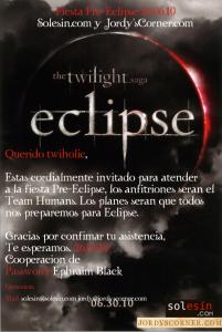 Invitación Fiesta Eclipse