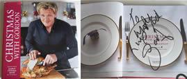 Mi libro autografiado por Gordon Ramsay
