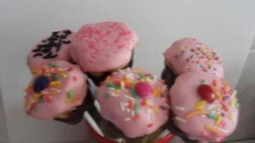 Pops en forma de cupcake